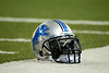 Dec 2, 2012; Detroit, MI, USA; A detailed view of a Detroit Lions helmet before the game against the Indianapolis Colts at Ford Field. Mandatory Credit: Tim Fuller-USA TODAY Sports