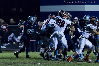 John Jay Patriots vs White Plains in the Class AA Semi-Finals Football game on 11/02/13