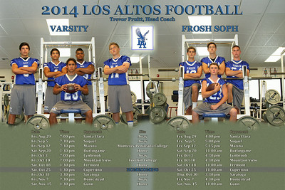 2014 LA Football Schedule Poster