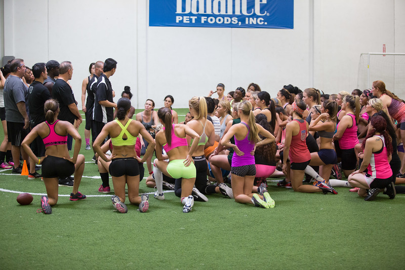Legends Football League - Los Angeles Temptation Tryouts (October 2013)
