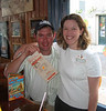 Kit and Debbie (his sister) at Hooters in downtown New Orleans