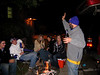 Story tellin' at the Delts' tailgate.