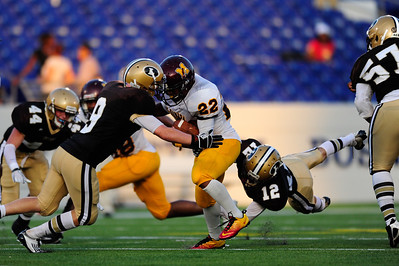 Sept 9, 2011 : McNamara's Adam Gillis (22) during action at the 2011 Patriot Classic Football tournament at the United States Naval Academy Stadium in Annapolis, Maryland. The Landon Bears defeated the McNamara team 29-14.
