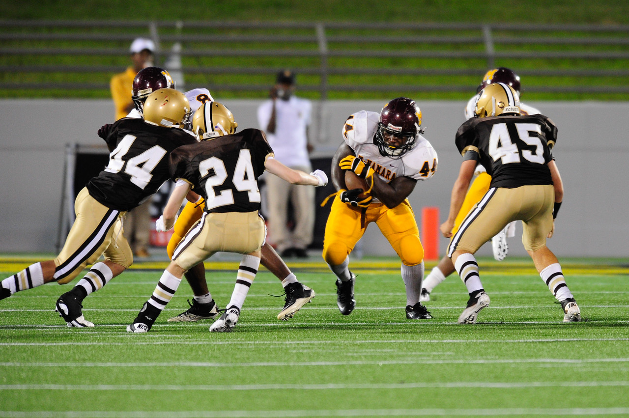 Sept 9, 2011 : McNamara' s Kevaugn Townsend (44) rushes the ball during action at the 2011 Patriot Classic Football tournament at the United States Naval Academy Stadium in Annapolis, Maryland. The Landon Bears defeated the McNamara team 29-14.
