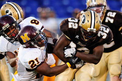 Sept 9, 2011 : during action at the 2011 Patriot Classic Football tournament at the United States Naval Academy Stadium in Annapolis, Maryland. The Landon Bears defeated the McNamara team 29-14.