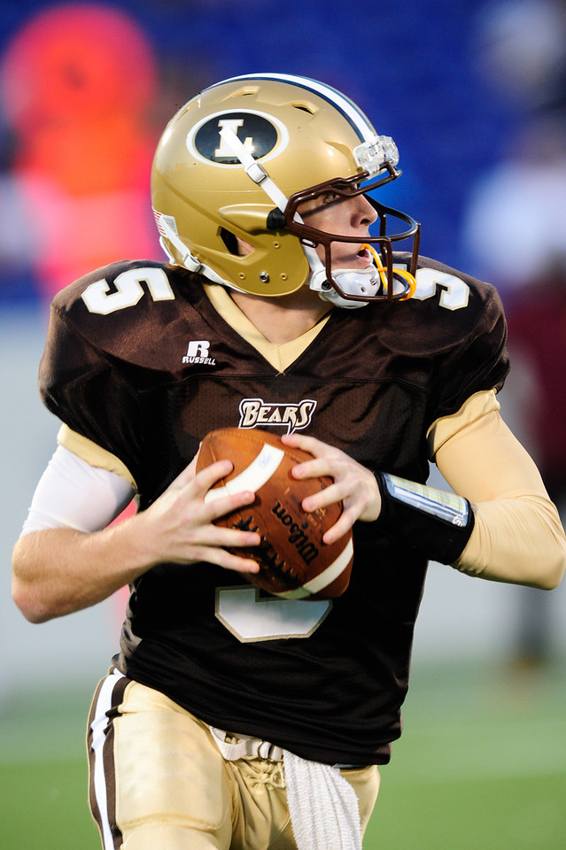 Sept 9, 2011 : Landon's QB Charlie Schnider (5) during action at the 2011 Patriot Classic Football tournament at the United States Naval Academy Stadium in Annapolis, Maryland. The Landon Bears defeated the McNamara team 29-14.