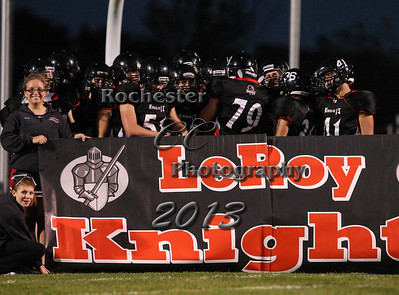September 27, 2013;  Leroy, NY; USA; Leroy Oatkan Knights Football vs. Warsaw Tigers at Leroy Field  Photo: Christopher Cecere
