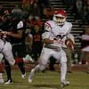 Lindsay Cardinal running back Jacob Hernandez rushes against Woodlake on October 25, 2013.
