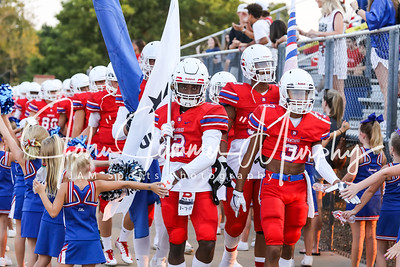 Bullard Panther's Ty Crayton #2 and Will McCowin lead the Panthers onto the field at Panther Stadium in Bullard TX.