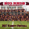 Milan Varsity Football 8x10 Team Photos 2017