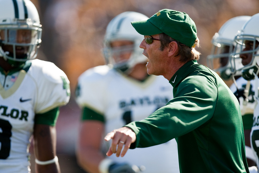 7 November 2009: Baylor head coach Art Briles during a game between the Missouri Tigers and the Baylor Bears at Memorial Stadium in Columbia, Missouri.
