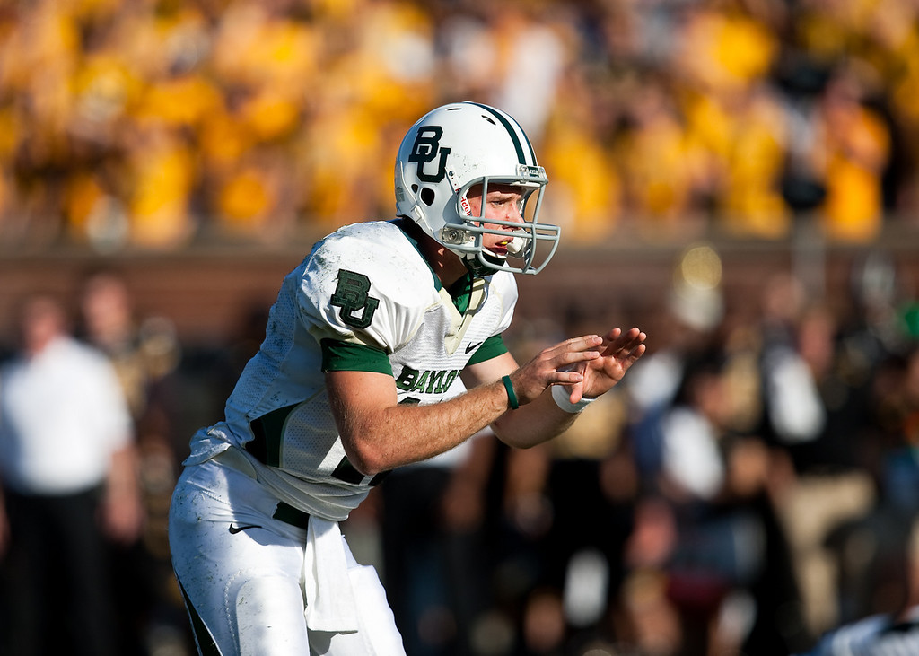 7 November 2009: Baylor quarterback Nick Florence (11) during the Baylor Bears 40-32 win over the Missouri Tigers at Memorial Stadium in Columbia, Missouri.