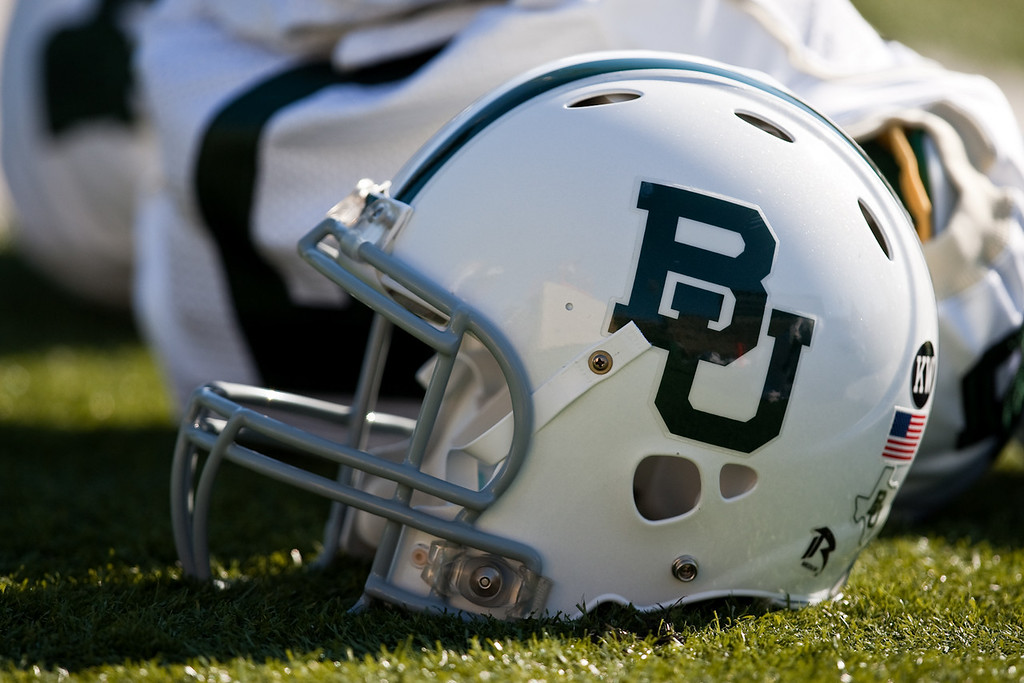 7 November 2009: A Baylor helmet rests on the field prior to the Baylor Bears 40-32 win over the Missouri Tigers at Memorial Stadium in Columbia, Missouri.