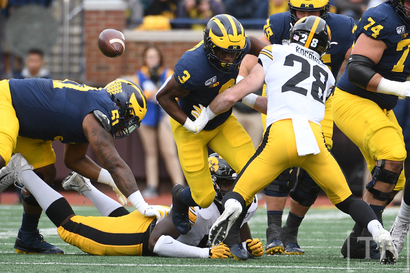 NCAA Football: Iowa at Michigan