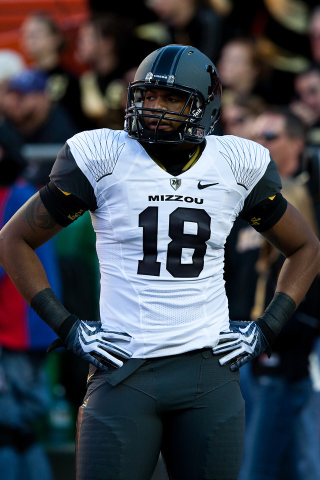 28 November 2009: Missouri defensive lineman Marcus Malbrough (18) during the Missouri Tigers 41-39 win over the Kansas Jayhawks at Arrowhead Stadium in Kansas City, Missouri.