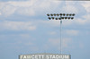 Aug 4, 2012; Canton, OH, USA;  A detailed view of the sign for Fawcett Stadium before the 2012 Pro Football Hall of Fame Enshrinement. Mandatory Credit: Tim Fuller-US PRESSWIRE
