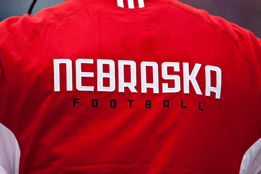 14 November 2009: A coach's jacket during the Nebraska Cornhuskers 31-17 win over the Kansas Jayhawks at Memorial Stadium in Lawrence, Kansas.