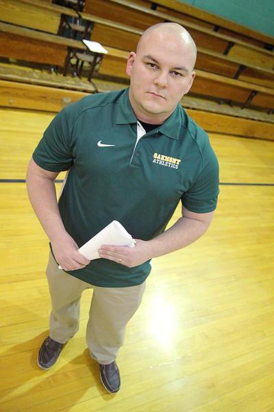 New head fooball coach for Oakmont Regional High School Charlie Raff. SENTINEL & ENTERPRISE/JOHN LOVE