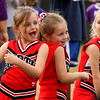 NGB Cheerleading squad in mid cheer