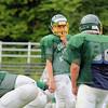 Oakmont's quarterback Shamus Gorman calls a play during practice on Thursday morning. SENTINEL & ENTERPRISE/JOHN LOVE