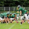 Oakmont football players line up for a play during practice on Thursday morning. SENTINEL & ENTERPRISE/JOHN LOVE