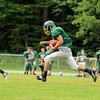 Oakmont's running back Tyler Caforio takes off down field duringa play at practice on Thursday morning. SENTINEL & ENTERPRISE/JOHN LOVE