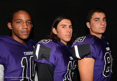 Oroville Tigers footballers at a studio photo shoot Saturday, Aug. 13, 2016, at the Enterprise-Record in Chico, California. (Dan Reidel -- Enterprise-Record)