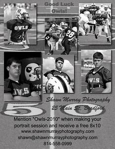 Bradford Owls football flyer-2 B&W