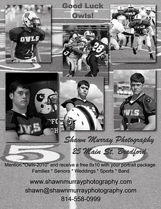 Bradford Owls football flyer-4 B&W
