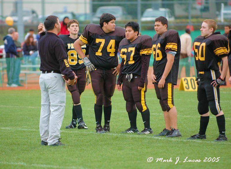 Coach Casciaro provides a pep talk