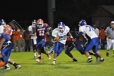 Joey Quintero runs the ball during Friday nights game with Bloomfiled