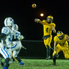 Panthers quarterback Jack Kiser (4) launches a pass in the second quarter. Pioneer defeated LaVille 38-0 in regional football action at the Pit on Friday night. Fran Ruchalski   Pharos-Tribune