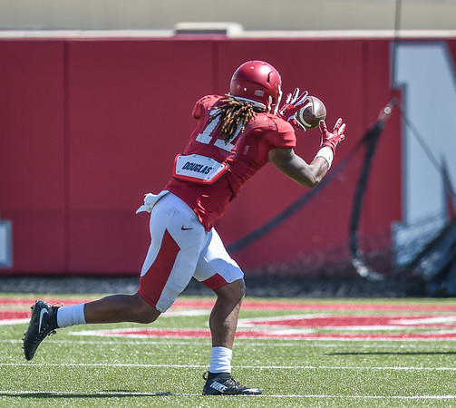 Will Gragg at the Razorback football practice on Thursday, August 20, 2015 at the Fred W. Smith Football Center in Fayetteville, Arkansas.   (Alan Jamison, Nate Allen Sports Service).