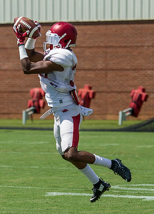 Kevin Richardson (30) during the Razorback Football practice on Tuesday, August 11, 2015 at the Fred W. Smith Football Center in Fayetteville, Arkansas.   (Alan Jamison, Nate Allen Sports Service).