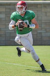 Brandon Allen at the Razorback football practice on Thursday, August 20, 2015 at the Fred W. Smith Football Center in Fayetteville, Arkansas.   (Alan Jamison, Nate Allen Sports Service).