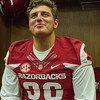 Karl Roesler at the Razorback Media Day on Sunday, August 9, 2015 at the Fred W. Smith Football Center in Fayetteville, Arkansas.   (Alan Jamison, Nate Allen Sports Service).