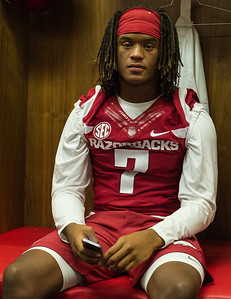 Willie Sykes at the Razorback Media Day on Sunday, August 9, 2015 at the Fred W. Smith Football Center in Fayetteville, Arkansas.   (Alan Jamison, Nate Allen Sports Service).