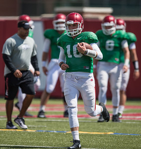 Brandon Allen (10) during the Razorback Football practice on Tuesday, August 11, 2015 at the Fred W. Smith Football Center in Fayetteville, Arkansas.   (Alan Jamison, Nate Allen Sports Service).
