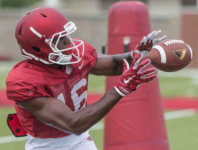 La'Michael Pettway at the Razorback football practice on Tuesday, August 18, 2015 at the Fred W. Smith Football Center in Fayetteville, Arkansas.   (Alan Jamison, Nate Allen Sports Service).