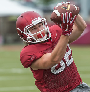 Luke Rossi at the Razorback football practice on Tuesday, August 18, 2015 at the Fred W. Smith Football Center in Fayetteville, Arkansas.   (Alan Jamison, Nate Allen Sports Service).