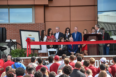 Vice Chancellor and Director of Athletics Jeff Long at the dedication of the Jerry and Gene Jones Family Student-Athlete Success Center on  the campus of the University of Arkansas in Fayetteville, Arkansas.   (Alan Jamison, Nate Allen Sports Service)
