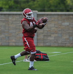 Chris Jones during the first  Fall Razorback Football practice on Thursday, August 6, 2015 at the Fred W. Smith Football Center in Fayetteville, Arkansas.   Photos by Alan Jamison.