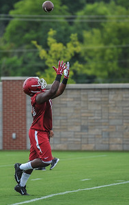 Chris Jones at the Razorback Football practice on Thursday, August 6, 2015 at the Fred W. Smith Football Center in Fayetteville, Arkansas.   Photos by Alan Jamison.