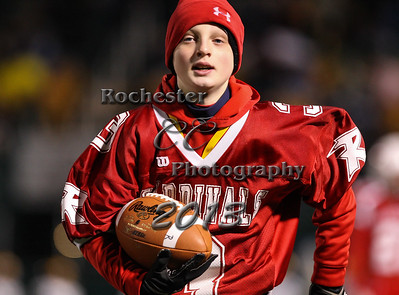 November 22, 2013;  Rochester, NY; USA; Ballboy during NYSPHSAA Class D Semifinal: Tioga Tigers vs. Randolph Cardinals at Sahlen's Stadium  Photo: Christopher Cecere
