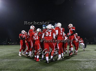 November 22, 2013;  Rochester, NY; USA; NYSPHSAA Class D Semifinal: Tioga Tigers vs. Randolph Cardinals at Sahlen's Stadium  Photo: Christopher Cecere
