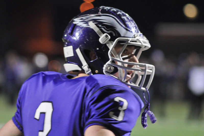 Gonzaga's Luke McCaleb grabs a breath in between plays for the Eagles.