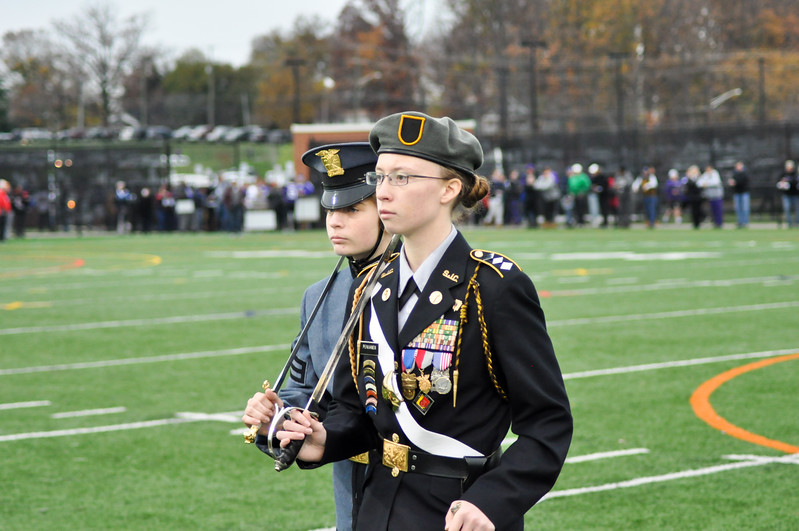 Cadet Colonel: Genevieve Pennanen led the March of the Cadets