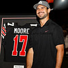 Miami Dolphin quarterback Matt Moore who played at Hart High School has his number retired before the Saugus vs. Hart varsity football game played on Friday, October 19.