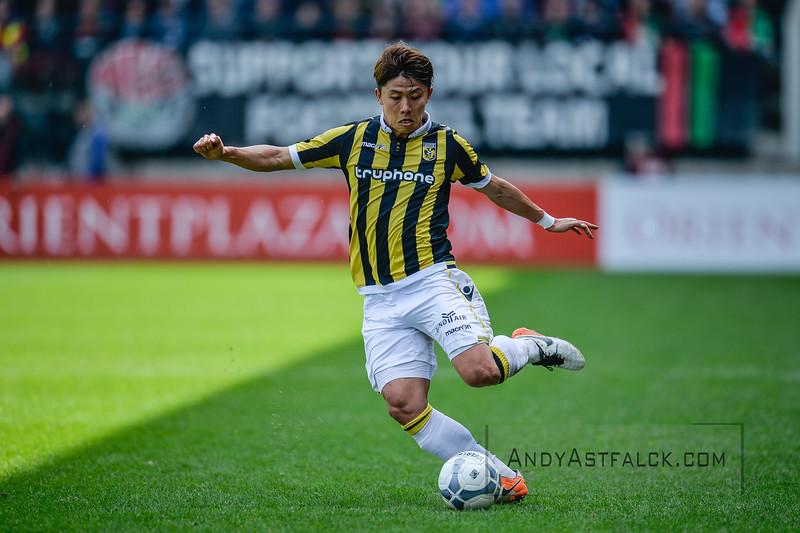 03-04-2016: Voetbal: NEC v Vitesse: Nijmegen   Kosuke Ota from Vitesse  Fotograaf Andy Astfalck  Eredivisie Seizoen 2015-2016 NEC v Vitesse