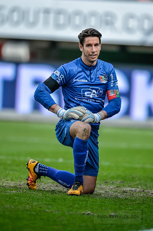 03-04-2016: Voetbal: NEC v Vitesse: Nijmegen   Brad Jones from NEC  Fotograaf Andy Astfalck  Eredivisie Seizoen 2015-2016 NEC v Vitesse